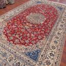 Vintage Silk and wool Persian Nain Rug-3670