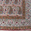 1- Semi antique Persian Qum Paisly Design Rug-3908