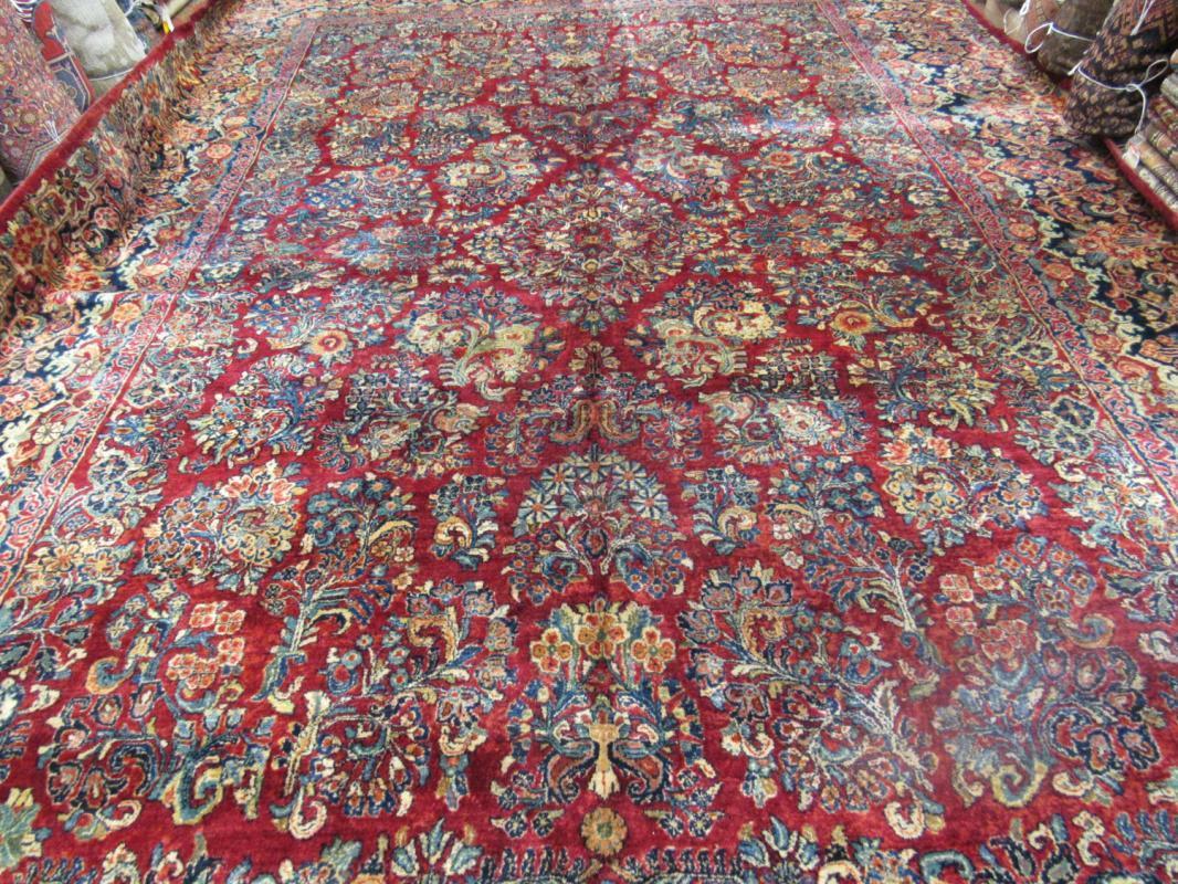 Mint large size antique Persian Sarouk Rug-2290