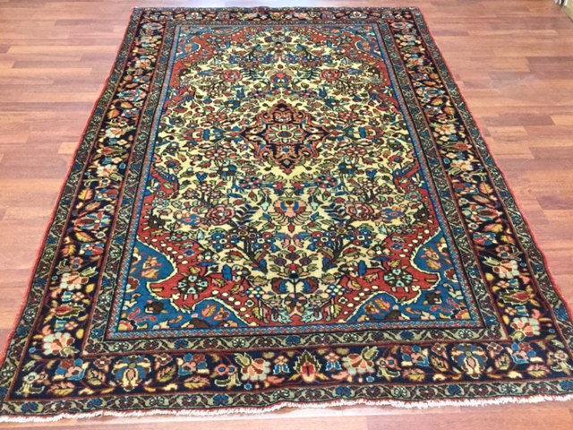 Antique Persian Malayer Rug-4332