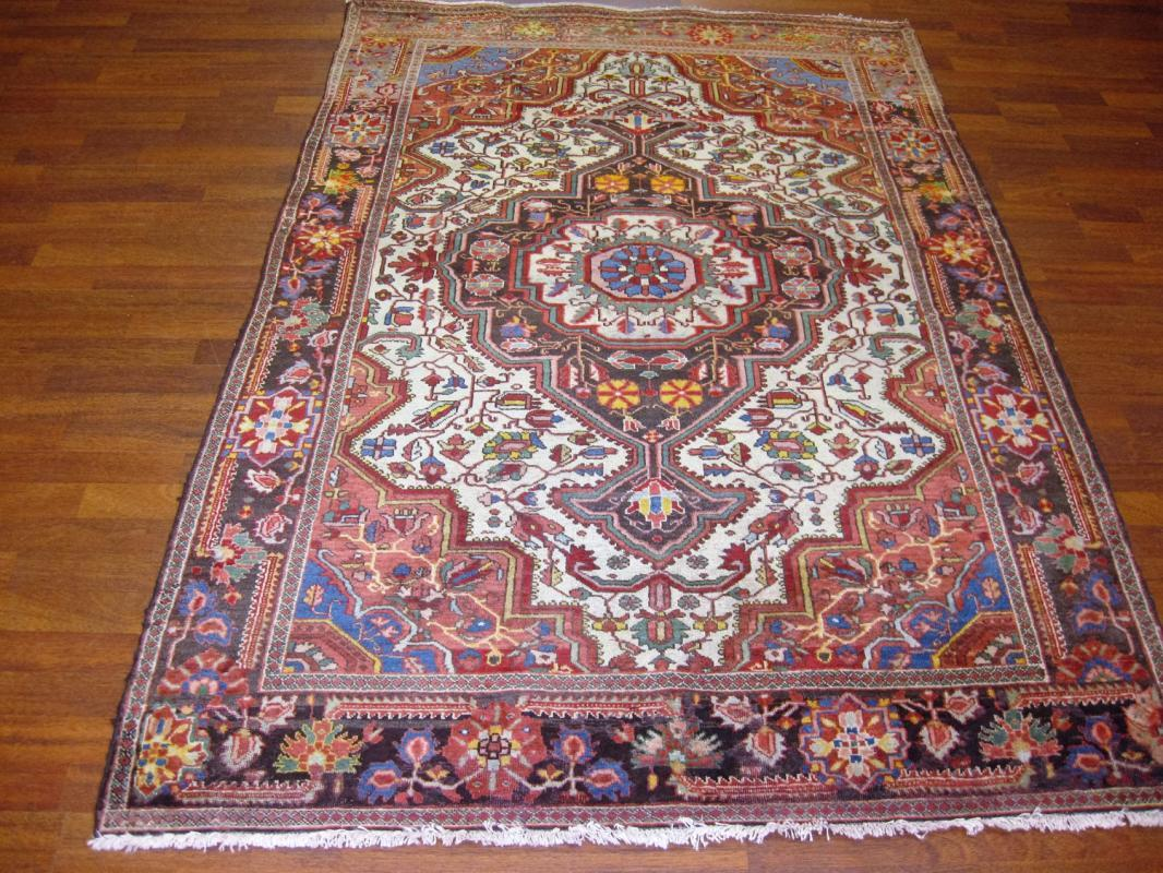 Antique Persian Farahan Sarouk Rug-3940