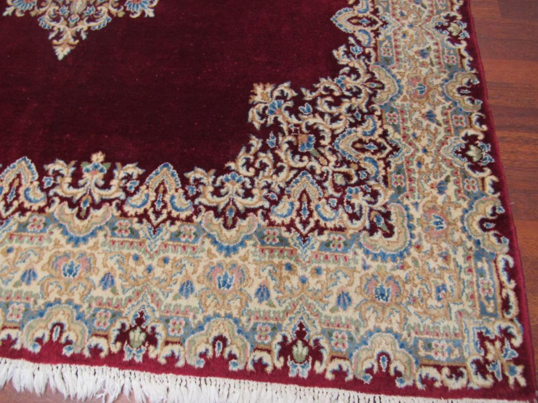 Antique Persian Squae Size Singed Kirman -411
