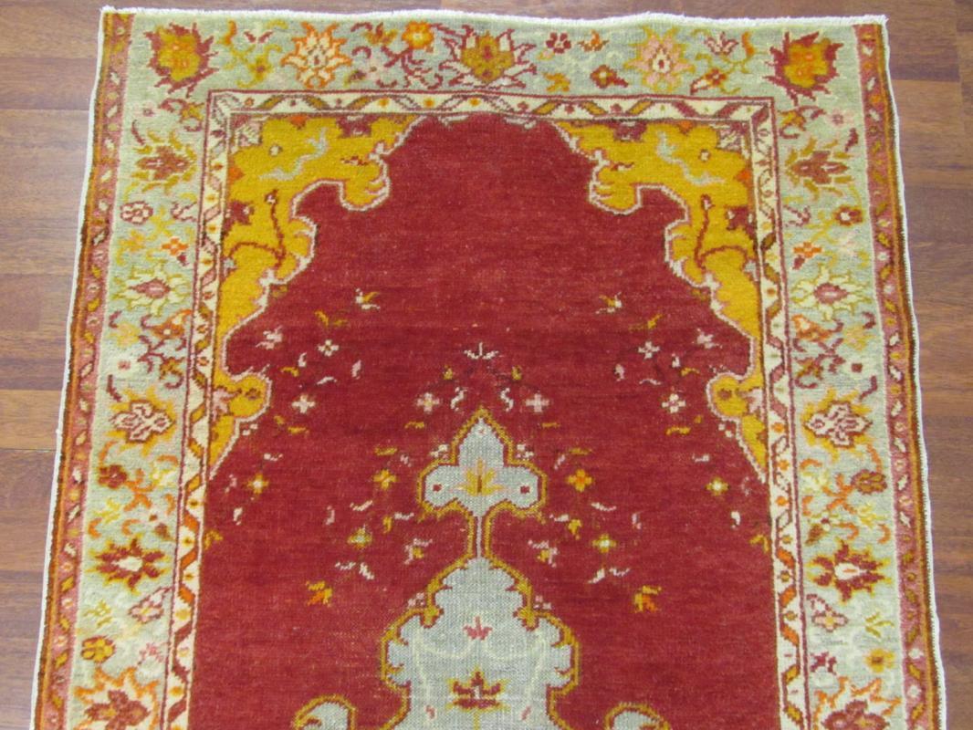 Antique Turkish Ushak Rug-4045