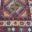 19th C Colorful Gendje Caucasian Rug-2041