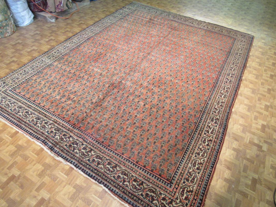 Antique Persian Mir Sarouk Rug.