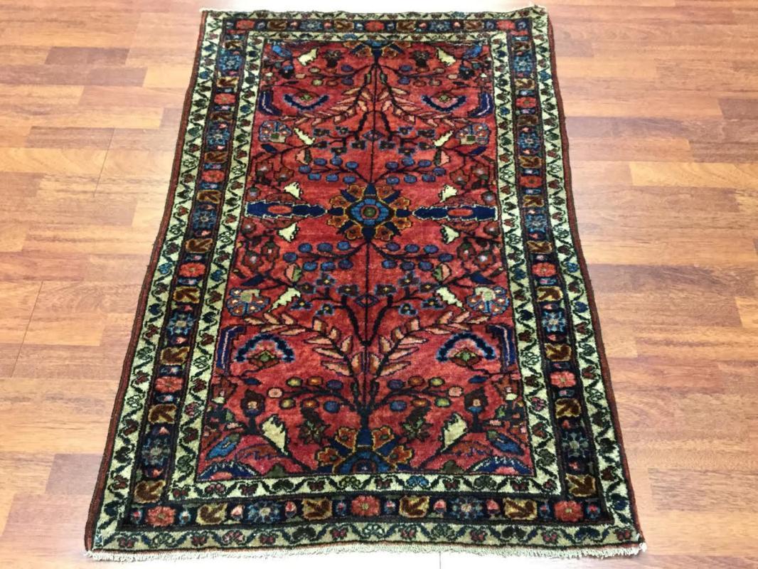 Antique Persian Lilihan rug-4474