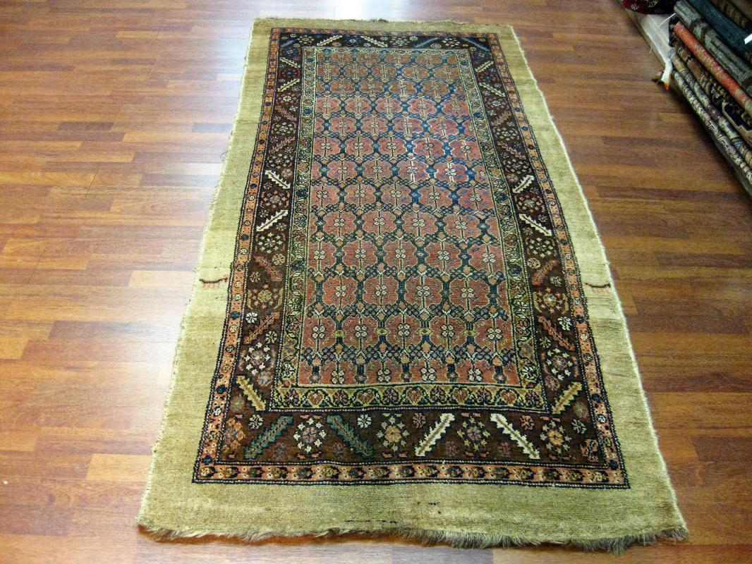 Antique Persian Camel hair northwest Rug-3950