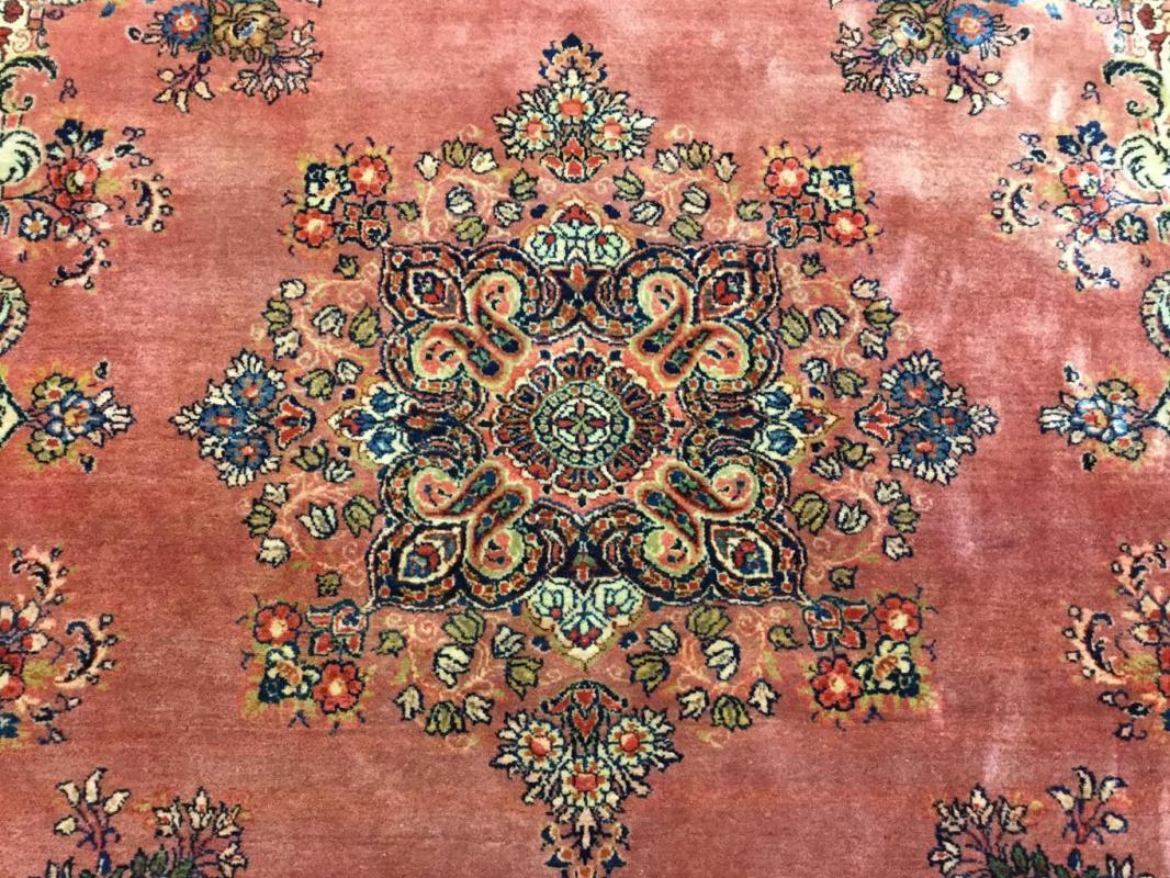 Square Size Antique Persian Sarouk Rug