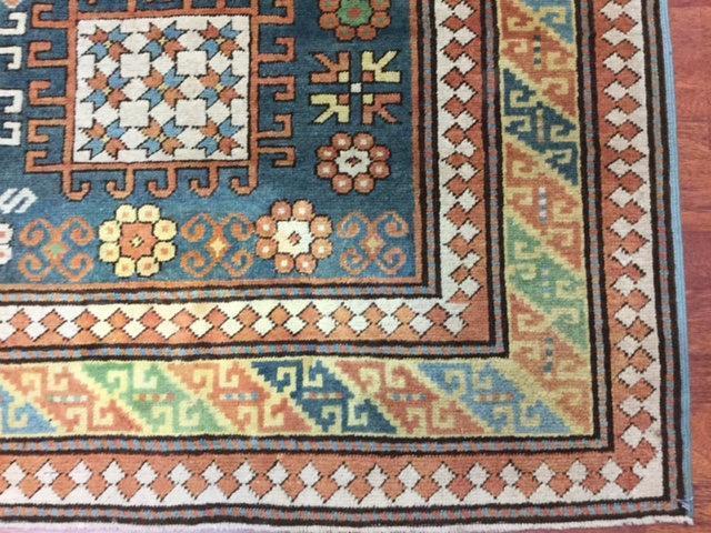 Antique karachov Kazak Caucasian Rug-4496