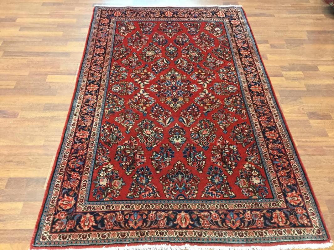Antique Persian Sarouk Rug- 4482