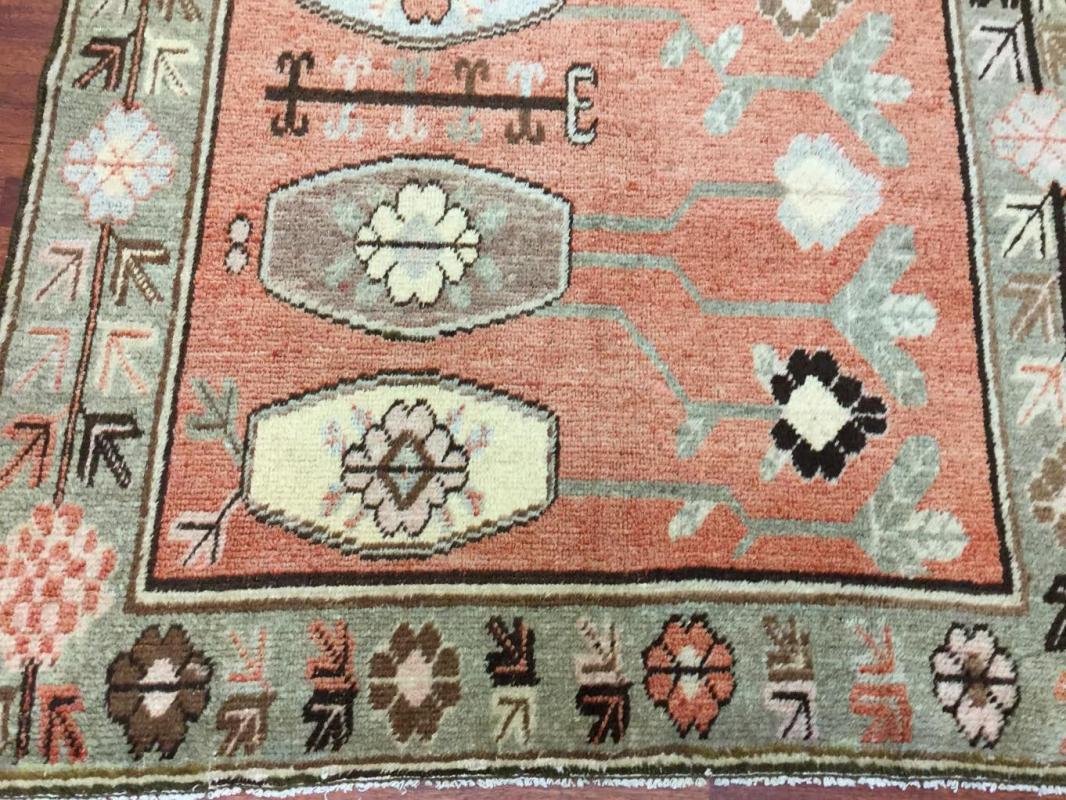 Antique Khotan -East Turkestan Rug-3303