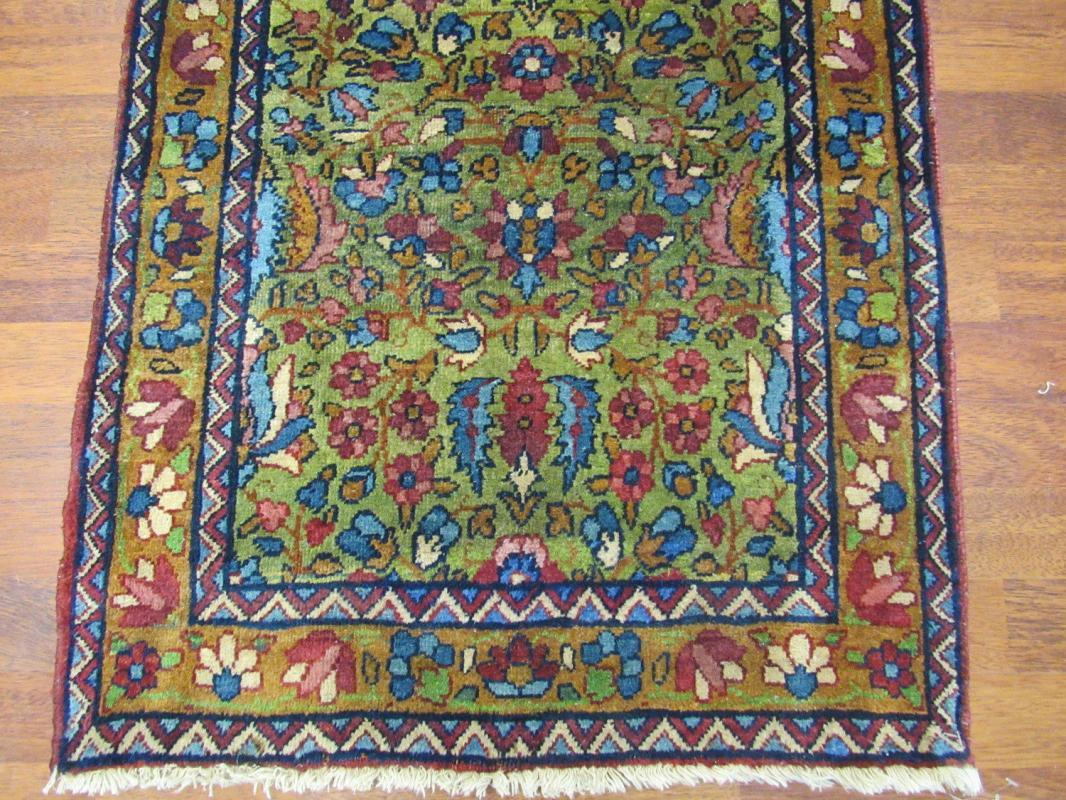 One of the kind antique Persian Ravar Kirman Long Runner-4059