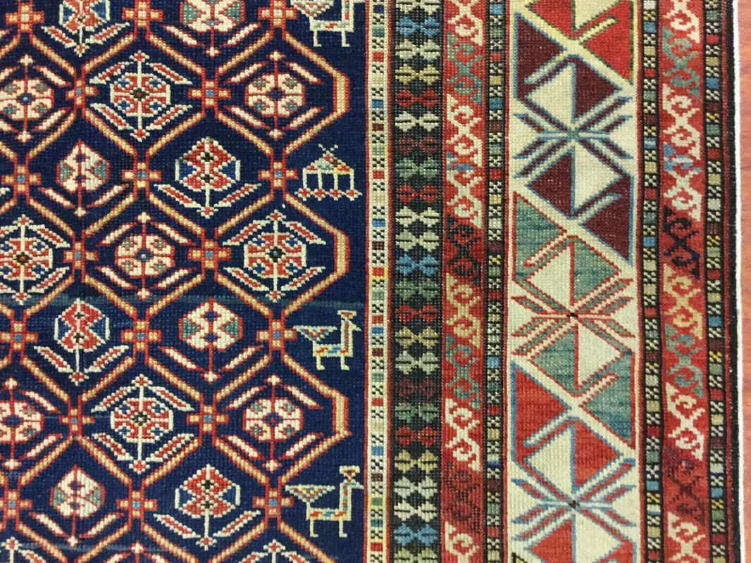 19th C Akastafa Shirvan Caucasian Rug-3925