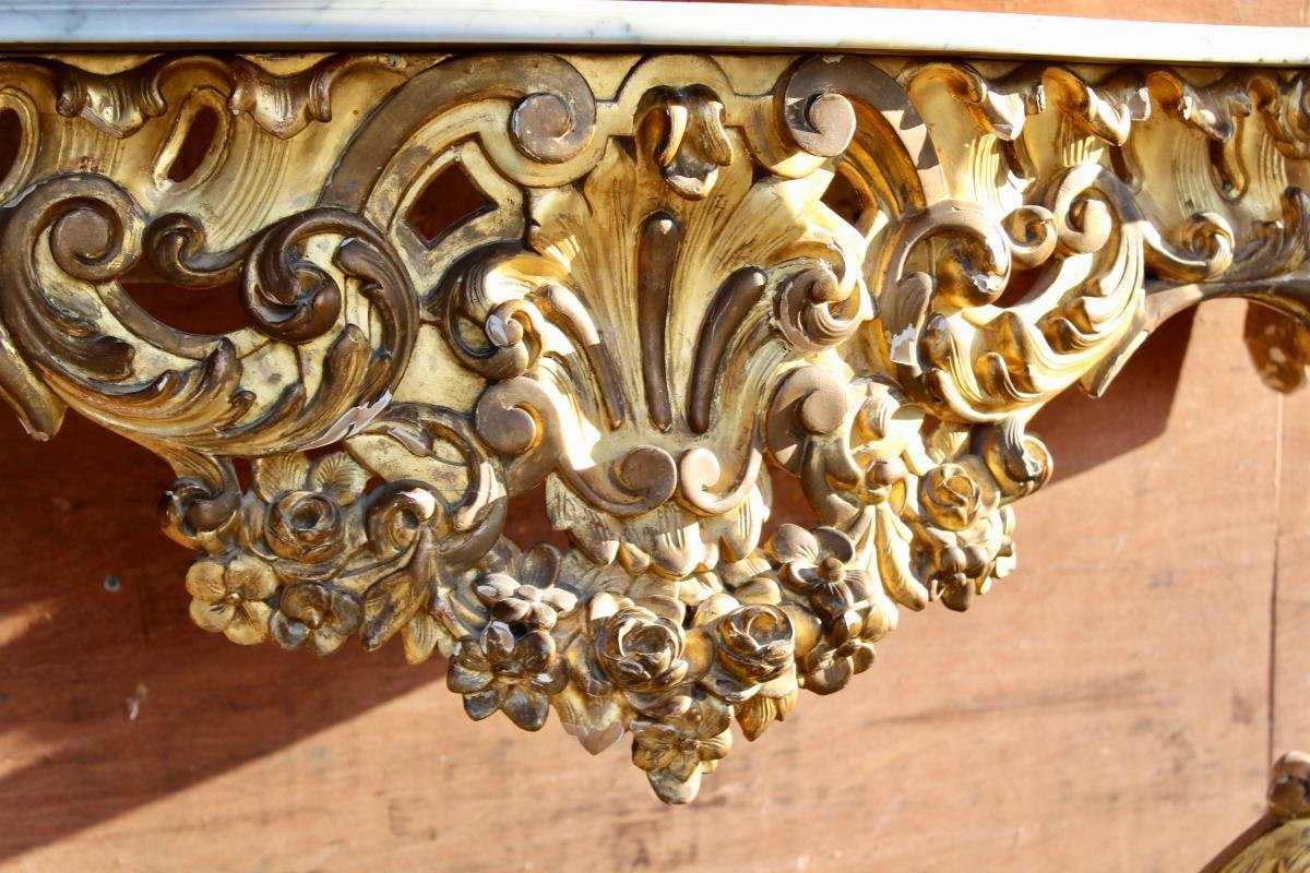 19th Century Gilded Console Table