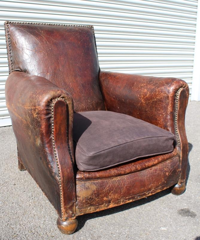 Early 20th c French Club Chair