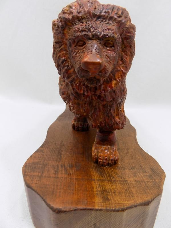 African Lion  Sculpture by Kent Quesnell Renowned Sculptor