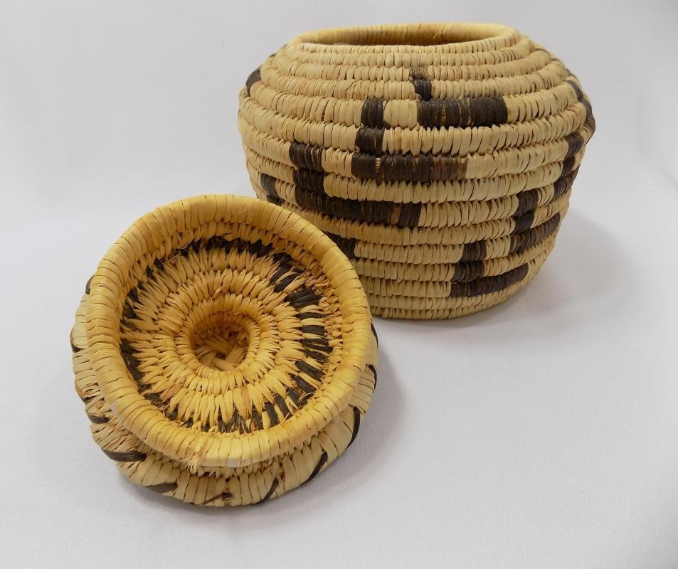 Vintage Tohono O'odham (Papago) Basket By Sally Juan