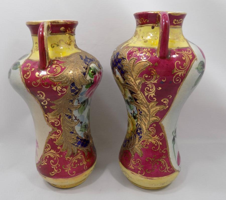 Nippon Era Japanese Vases Meiji Period