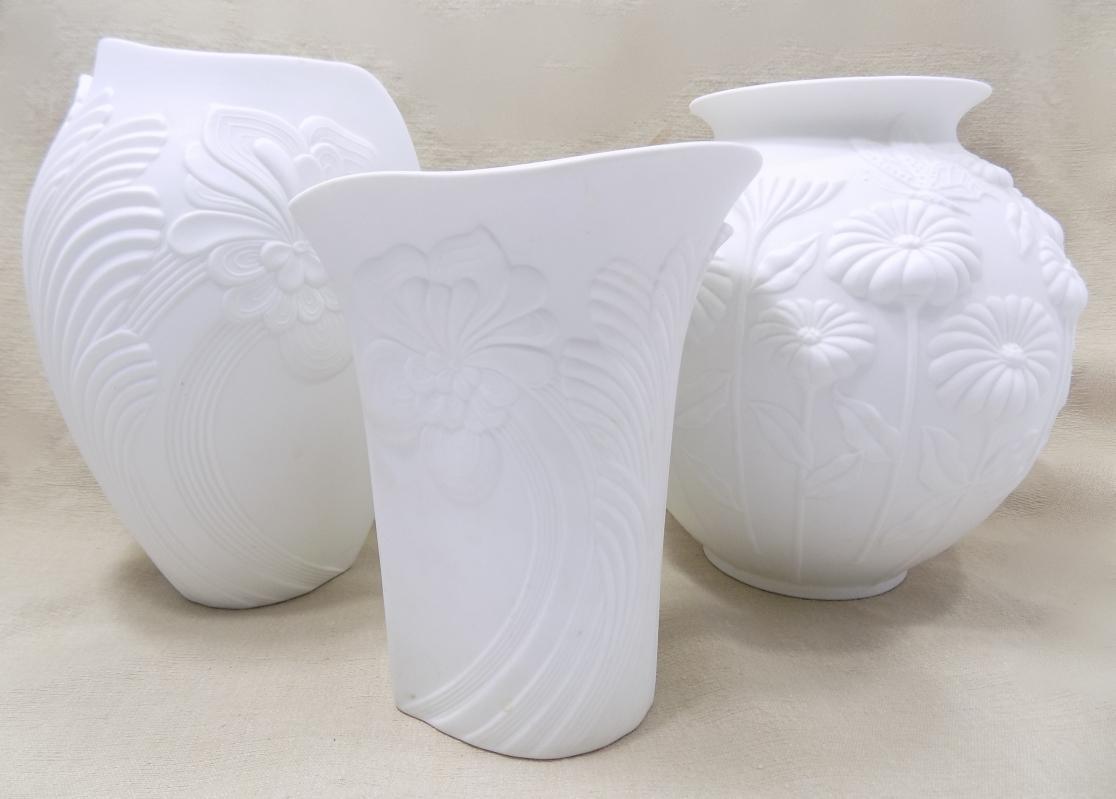 Matte White Kaiser Porcelain Vases