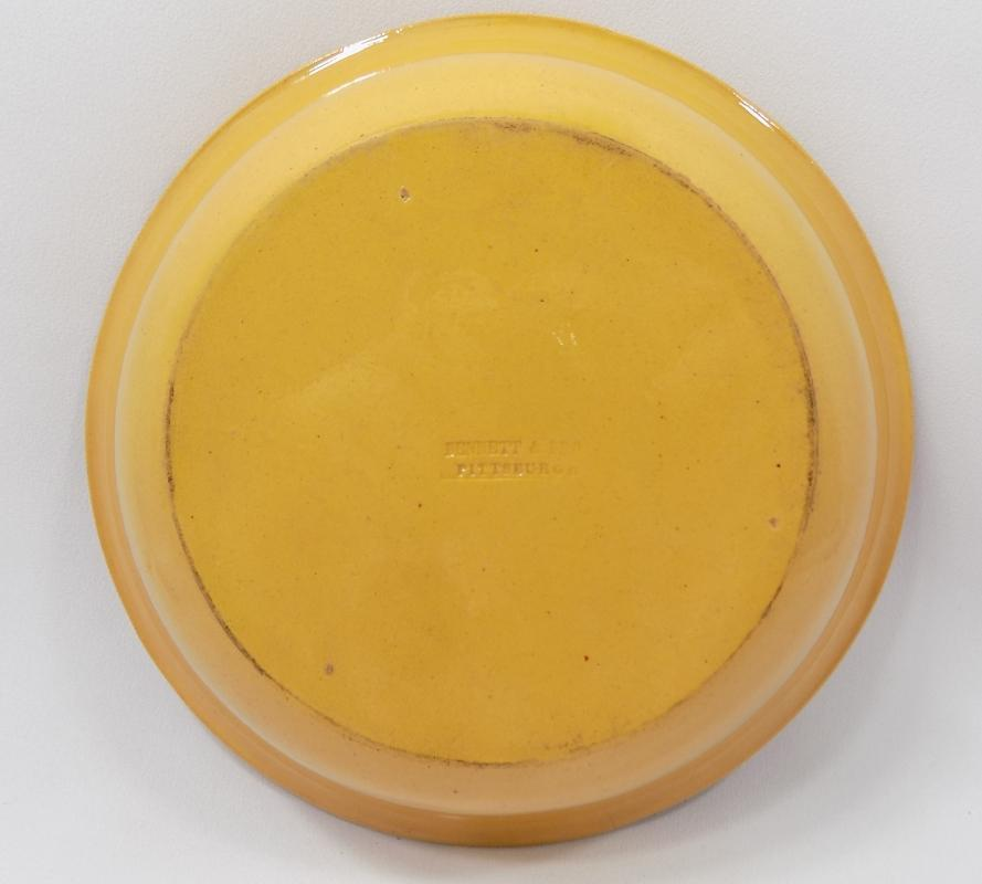 Antique James Bennett and Brothers Yellowware Pie Pan