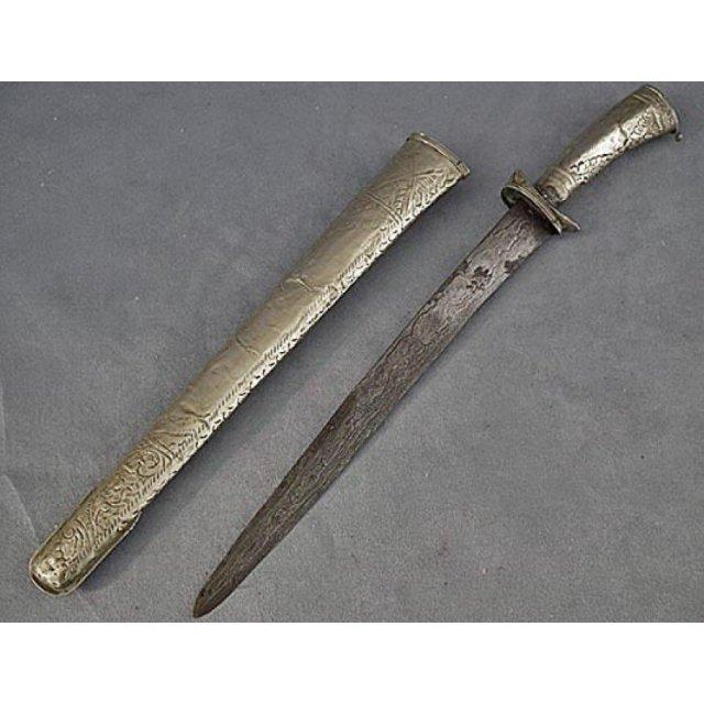 Antique Indonesian Javanese Sword Pedang Lurus 19th c