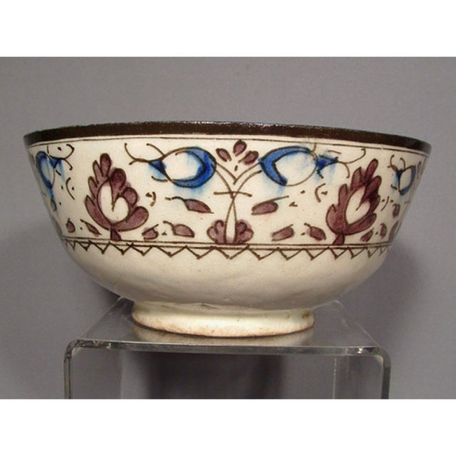 Antique IslamicIndo Persian Central Asian  Ceramic Bowl 18th Century