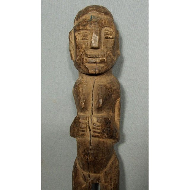 Antique African Carved Wood Sculpture Figure