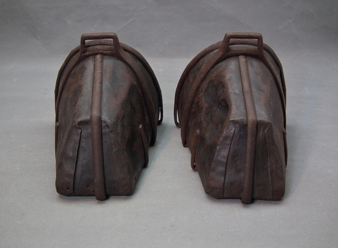 Pair Of Antique German 17th Century Thirty Years' War period Cuirassier's Armored Stirrups