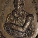 Antique Plaque Prince Jozef Poniatowski Commander Of Polish Napoleonic Army And Napoleon Marshal