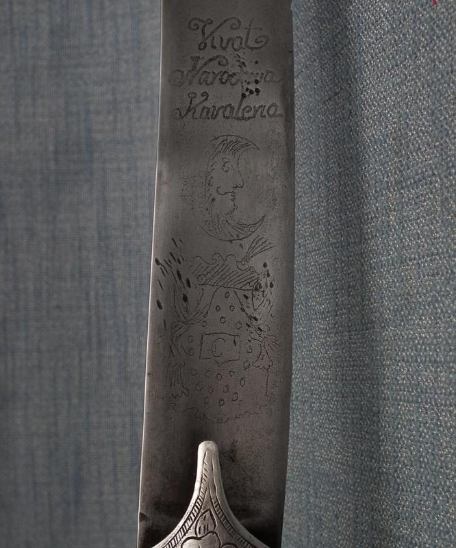 Antique 18th Century Silver Mounted Turkish Ottoman Karabela Sword Polish Vivat Narodowa Kawaleria