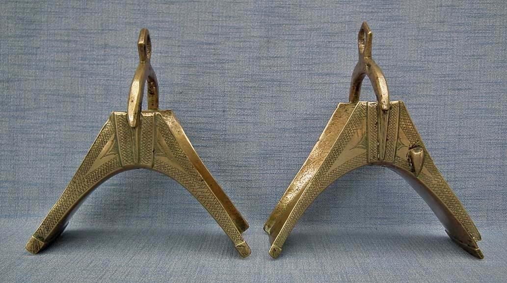 Antique 19th Century African Islamic Hausa stirrups In Turkish Ottoman Manner