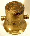 19th century Miniature pharmaceutical Brass Mortar