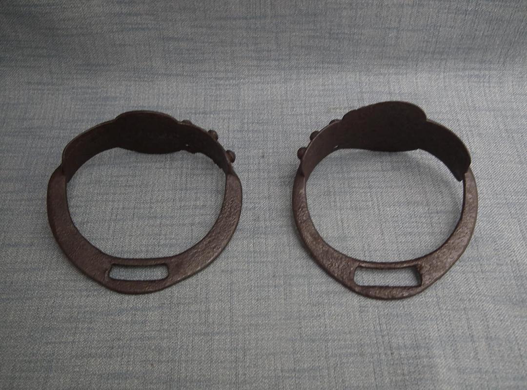 Antique Mongolian Medieval 13th Century Iron Stirrups Genghis Khan Mongol Empire
