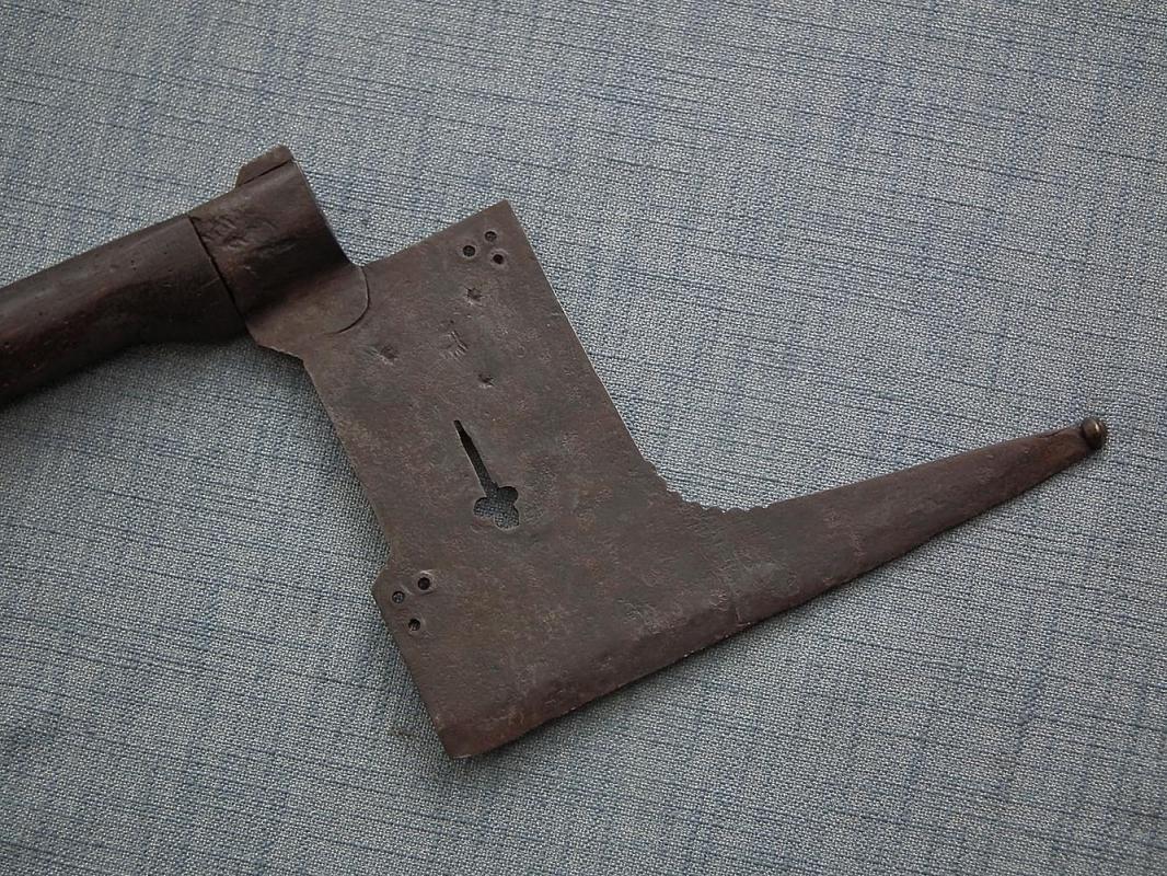 Antique 17th - 18th Century German Saxon Miner's Guild Axe