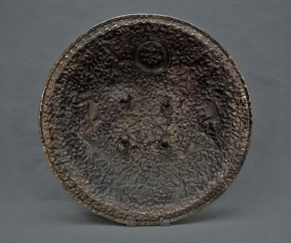 Antique 19th Century Indo Persian Brass Shield North-West India