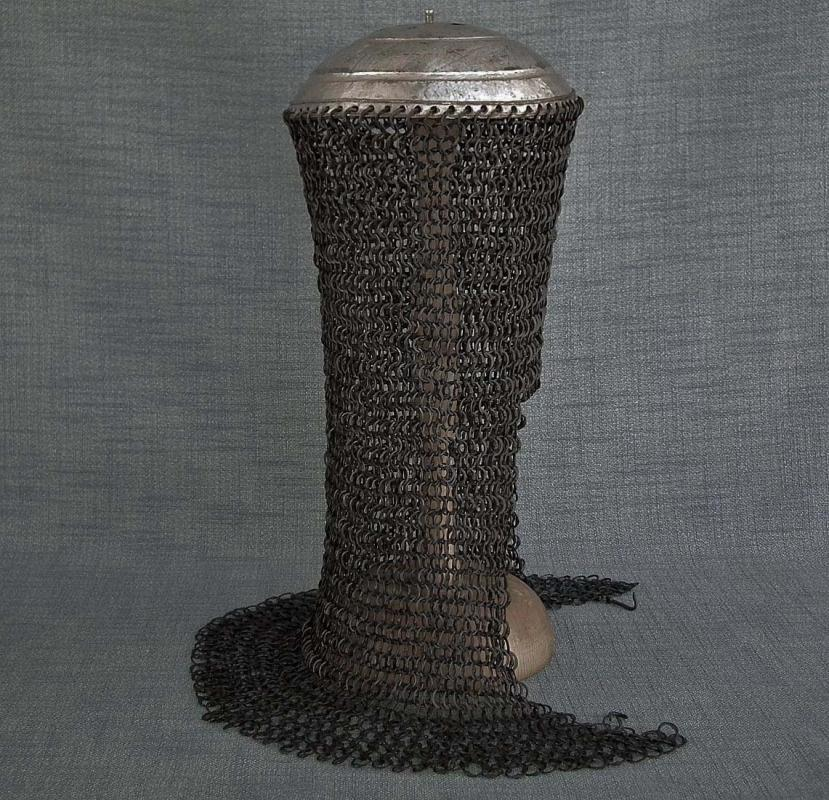 Antique 17th Century Crimean Tatar Islamic Helmet in Turkish Ottoman Style with Silver Top