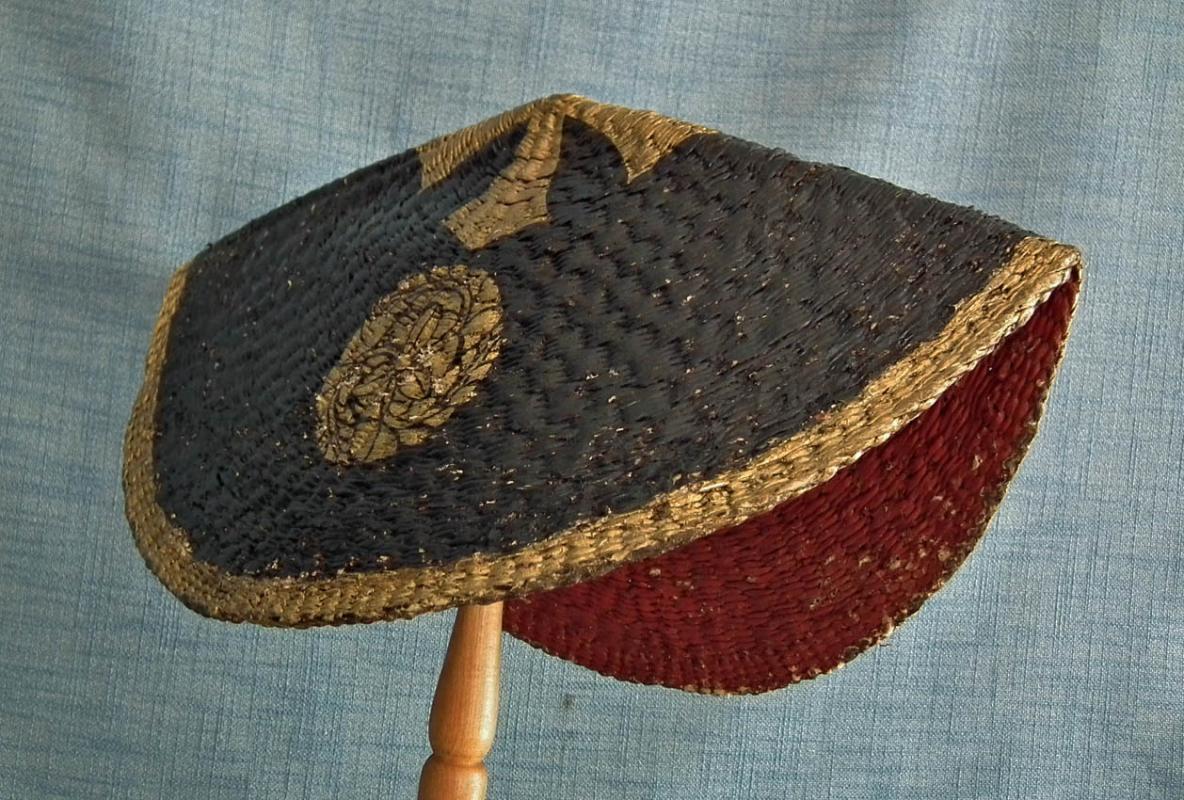 Antique Japanese Edo Period Samurai War Hat Nirayama Jingasa Kabuto