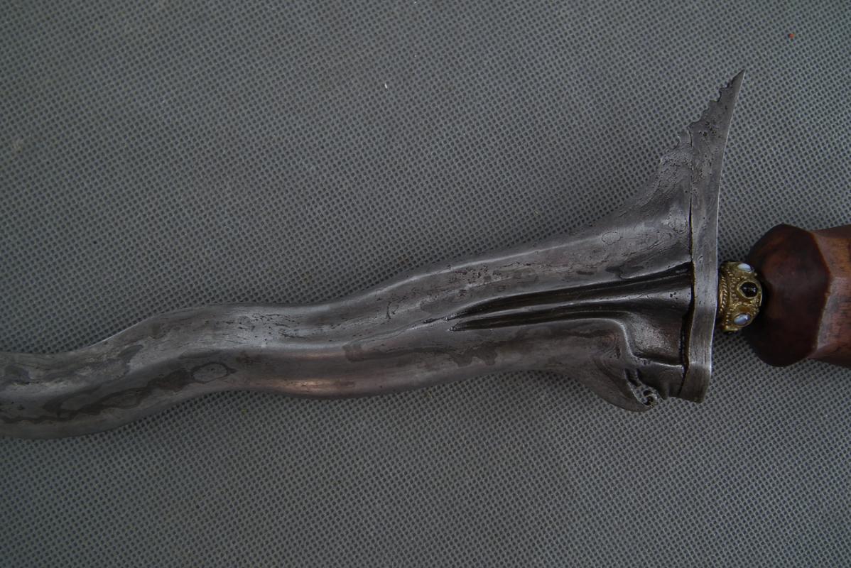 Antique Indonesian Balinese Bali Sword Keris Kris W\with12 Luks