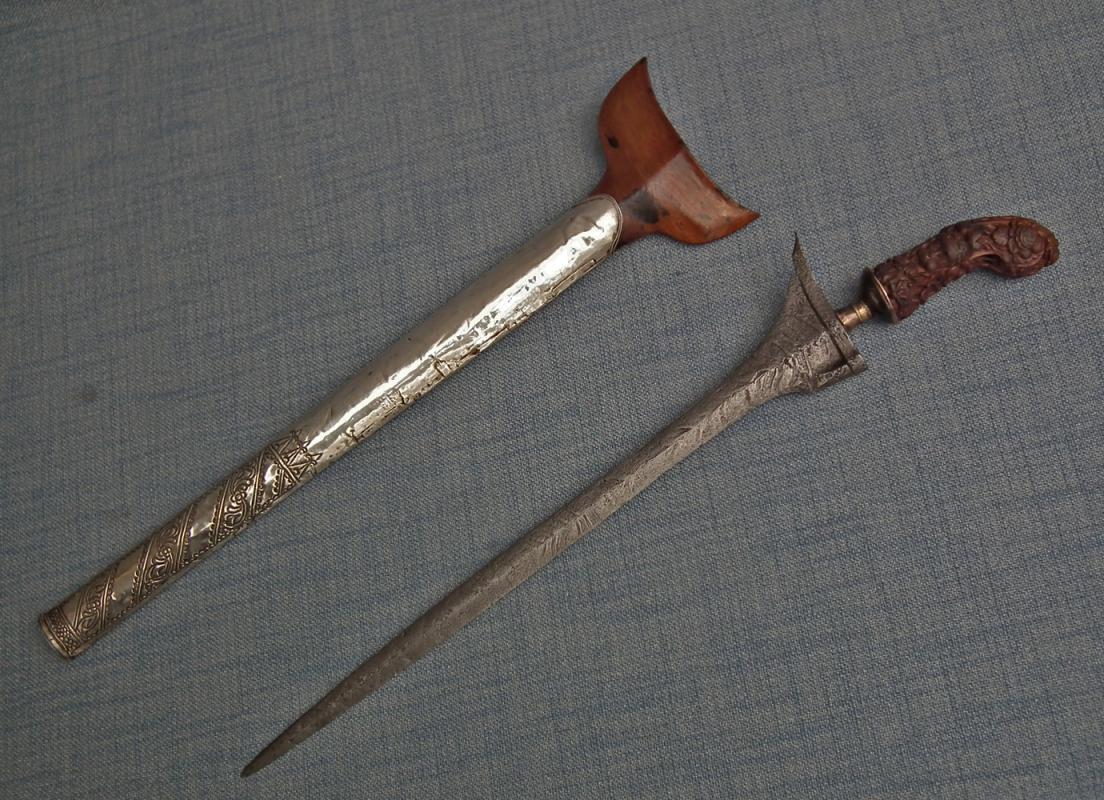 Antique 18th Century Indonesian Malay Islamic Sword Dagger Panjang Kris Keris