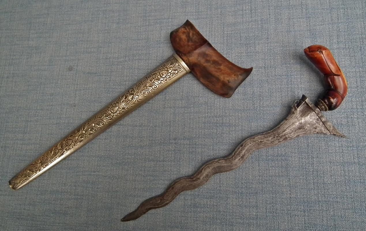 Antique Indonesian Malaysian Malaya 18th century Malaysia Islamic Bugis Sword Dagger Kris Keris