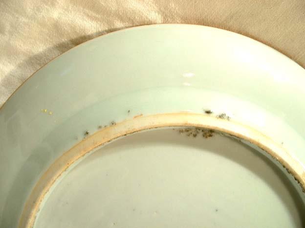 Chinese Rose Mandarin Plate Ching Qing Dynasty 19th c