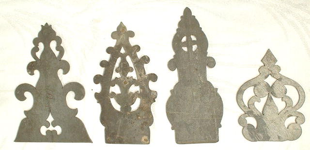 ANTIQUE PEWTER CABINET HARDWARE – HINGES, 18TH