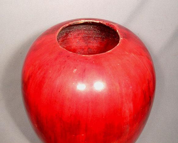 William Moorcroft flambe Signed Vaze Dated 1939