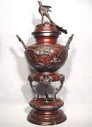 Antique Japanese Bronze Censer, Meiji Period (1868-1912)