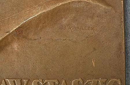Antique 1926 bronze plaque Polish Stanislaw Staszic by J.Aumiller Mennica Panstwowa Polish State Mint