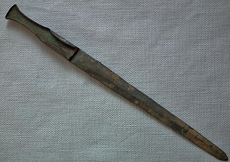 Ancient Luristan Bronze Sword Dagger 1150-900 BC