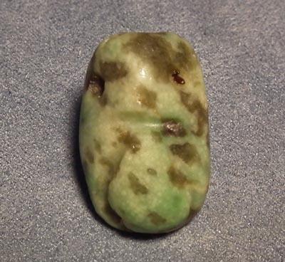 Antique Pre-Columbian Jade Pendant Mezcala Late Preclassic 300-100 BC