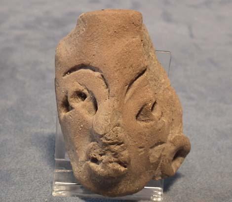 Antique Precolumbian Terracotta Head fragment Mayan Circa 500AD to 900 AD