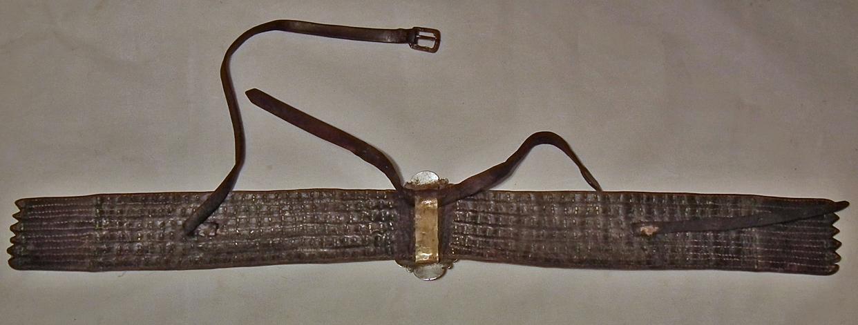 Antique Russian Islamic Turcoman Tekke Silver Mounted Turkmen Horse trapping Neckband