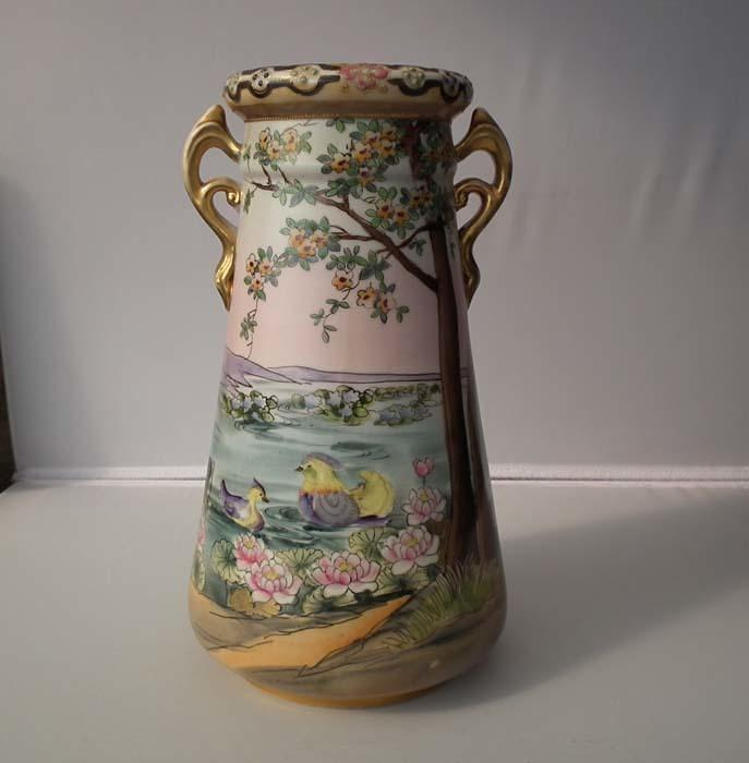 Pair of Antique Imperial Nippon Japanese Porcelain Vases